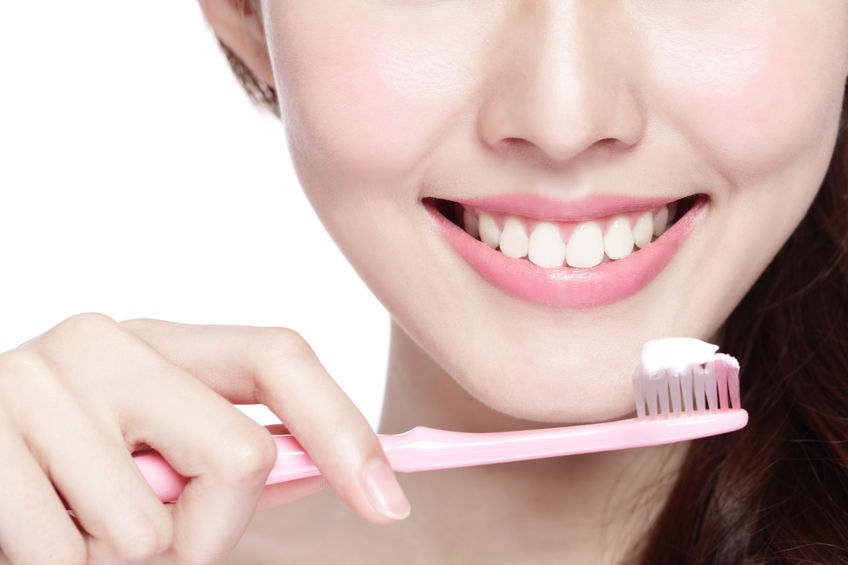 38923613 - close up of smile woman brush teeth. great for health dental care concept, isolated over white background. asian